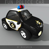 3d cartoon police car model