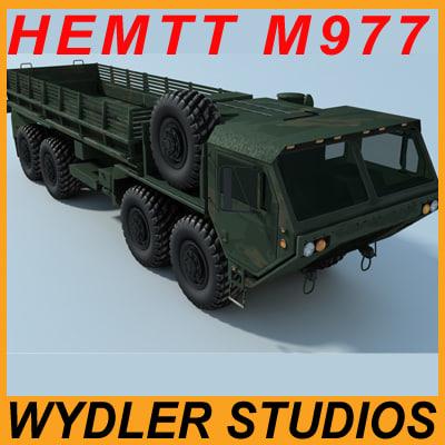 oshkosh hemmt m977 hemtt 3d model