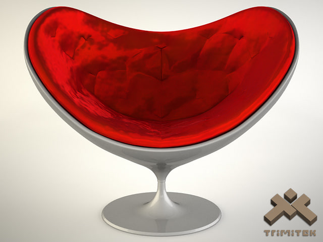 3d love chair