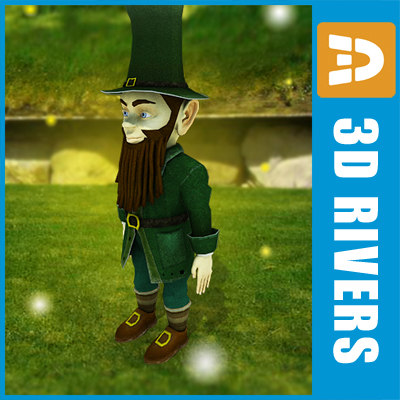 irish leprechaun fantasy 3d model