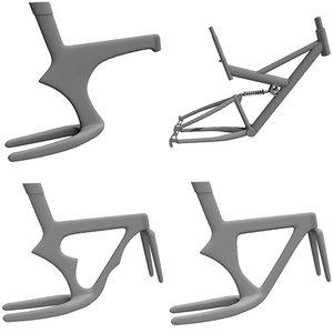 4 bike frames 3d 3ds