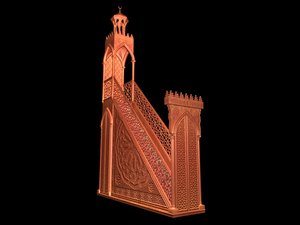 3ds max menbar mosque