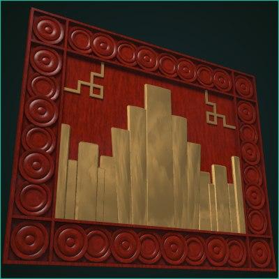 Maya Art Deco Mural Part 51