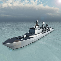 3d model type 051c - luzhou