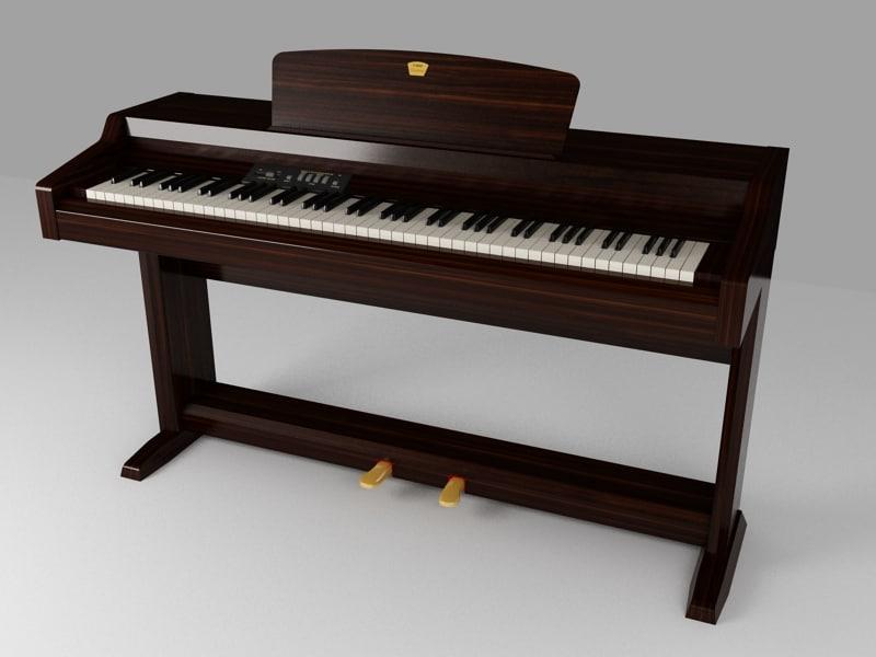 3dsmax clavinova piano