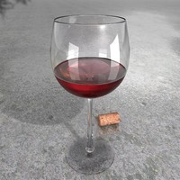 resolution red wine glass materials 3d 3ds