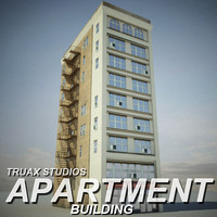 3d model truax apartment building