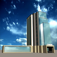 3ds max trade building