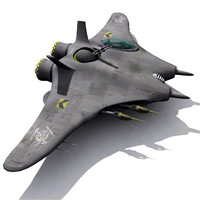space fighter ship 3d obj