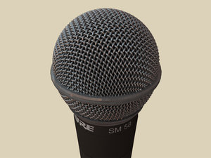 shure sm-58 microphone 3d obj