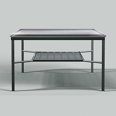 3d frosted glass coffee table model