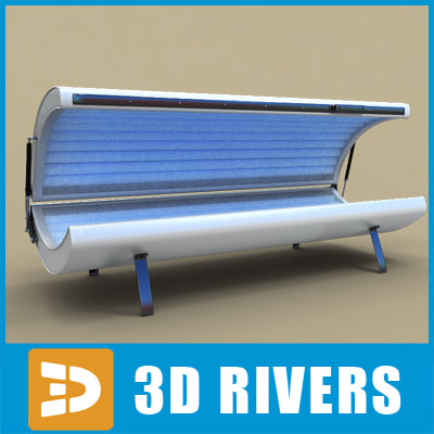 3dsmax tanning bed