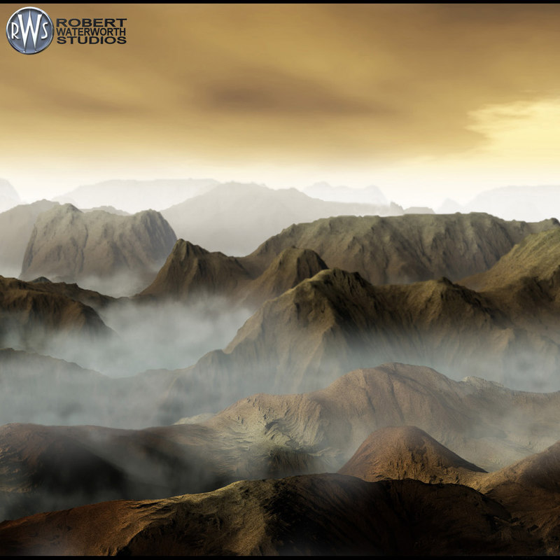 3d mountain range