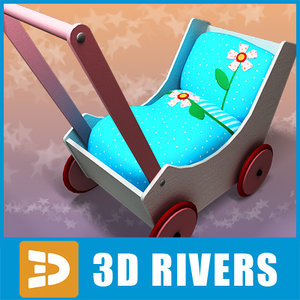 3d toy baby carriage