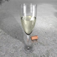 resolution white wine glass c4d