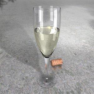 resolution white wine glass c4d