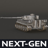 next-gen german tank modeled 3d model