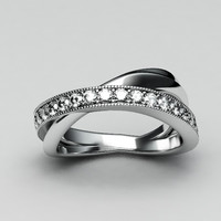 Jewelry-Diamond white gold ring-1