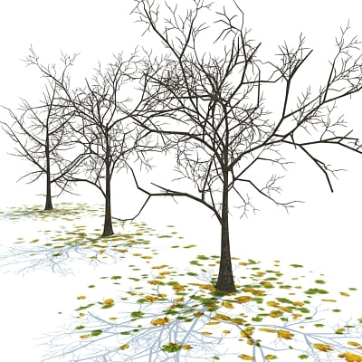 3ds trees fall leaves