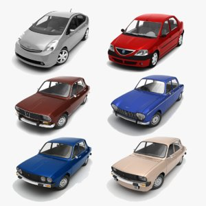 3d toyota prius 6 cars model