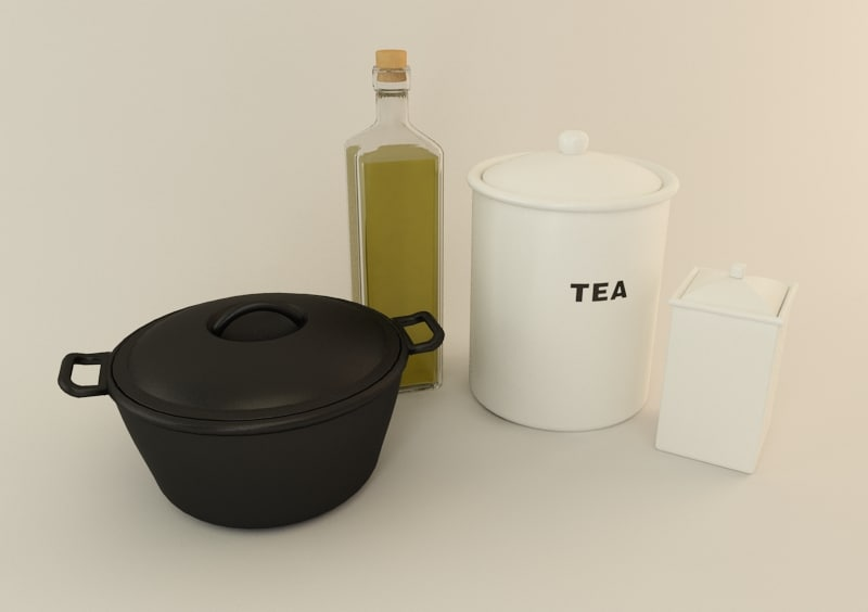 3d model objects kitchen