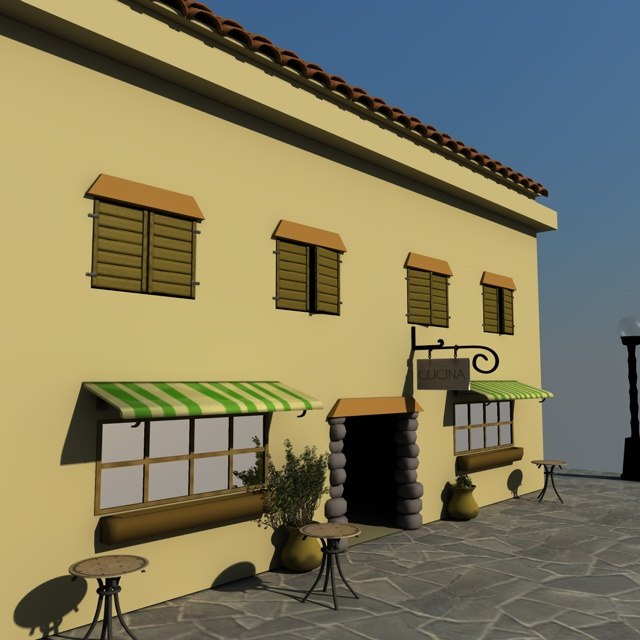 3d model italian shop