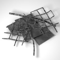 3d metal debris model