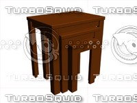 modern end table 3d max
