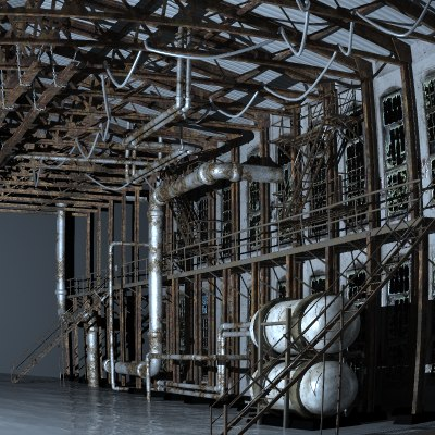3d model factory interior