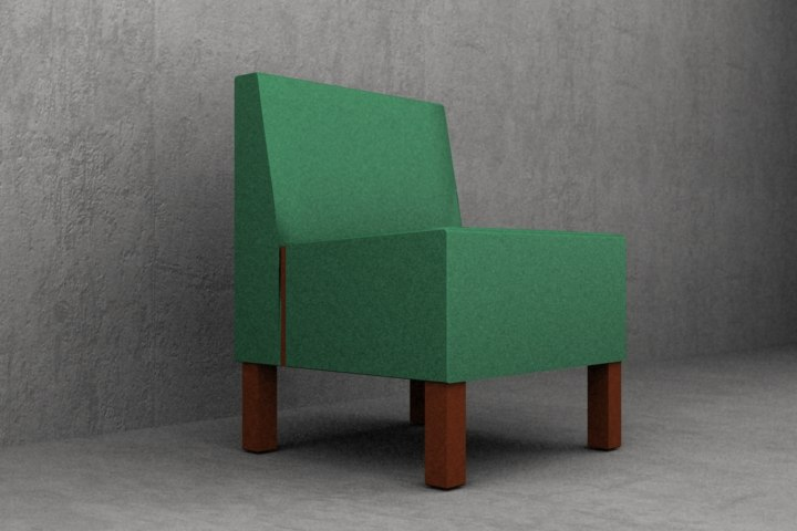 3ds max upholstered cafe lounge chair