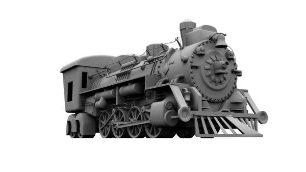 3ds max steam train