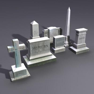 maya set gravestones grave stones