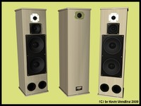free speakers stereo 3d model