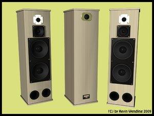 free speakers stereo 3d model