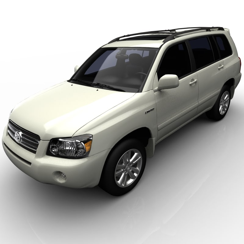 toyota highlander hybrid 3d model