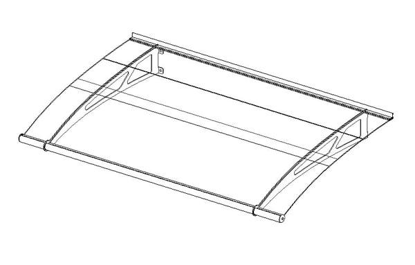 3d model lightline canopy 1500