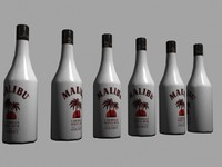 3ds max malibu bottle