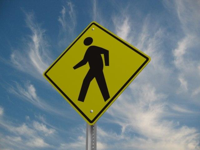 pedestrian crossing street sign 3d 3ds