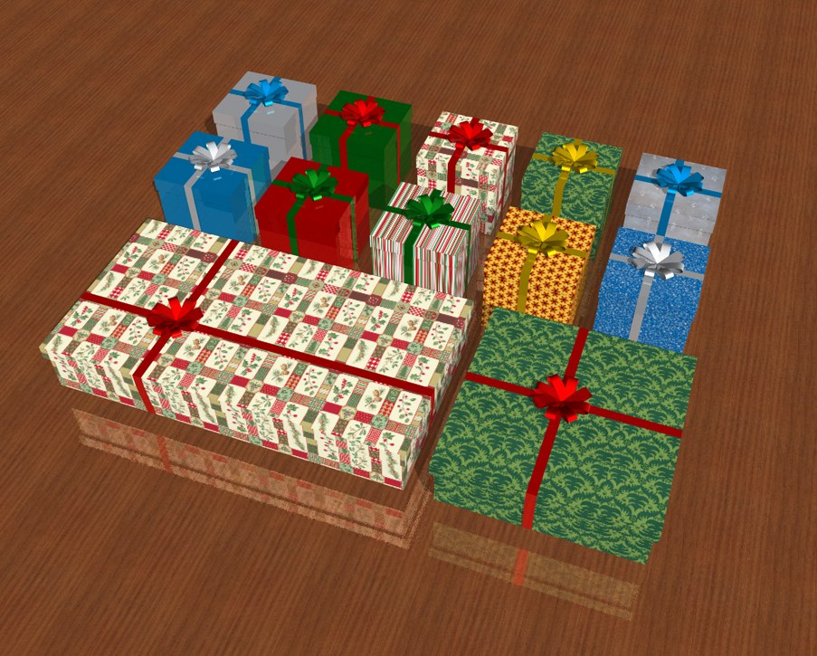 holiday gift boxes 3d model