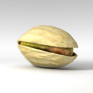 3d lwo pistachio nut shell