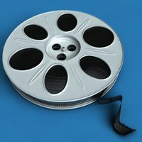 film reel 3d model
