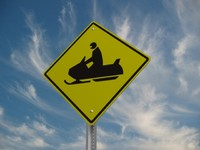 3ds max snowmobile crossing street sign