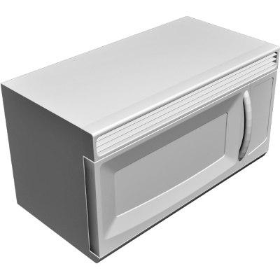 microwave 3d obj