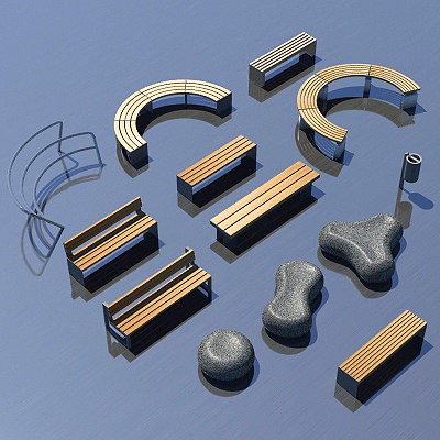 3d model street furniture