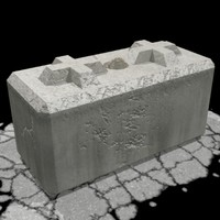 3d model of barrier block