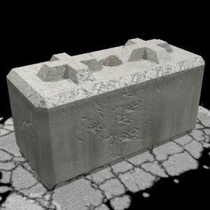 3d model of barrier block