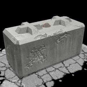 barrier block 3d max