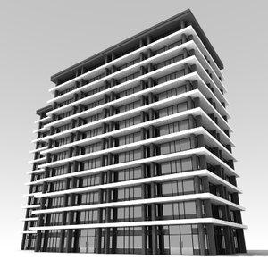 3d 3ds office buildings