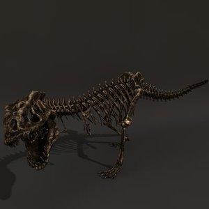 skelet tyranosaurus rex c4d
