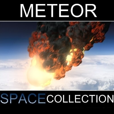 3ds max meteor earths rock